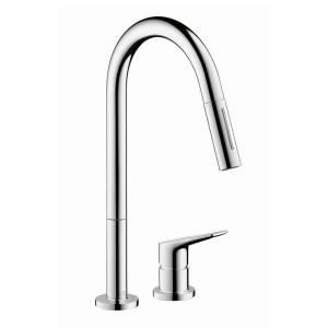 Hansgrohe Axor Citterio M Single Handle Pull Down Sprayer Kitchen Faucet in Chrome 34822001