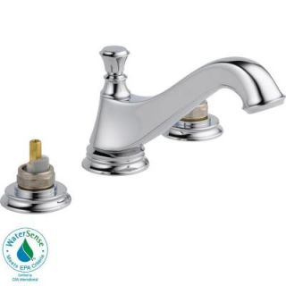 Delta Cassidy 8 in. 2 Handle Low Arc Bathroom Faucet in Chrome   Less Handles 3595LF MPU LHP