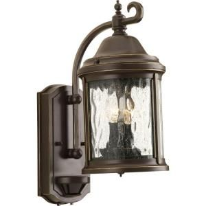 Progress Lighting Ashmore Collection Wall Mount 2 Light Outdoor Antique Bronze Lantern P5854 20