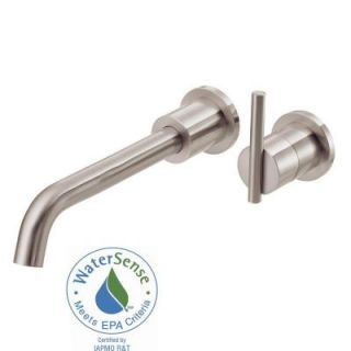 Danze Parma 1 Handle Wall Mount Bathroom Faucet with Touch Down Drain Trim Only in Brushed Nickel D216058BNT