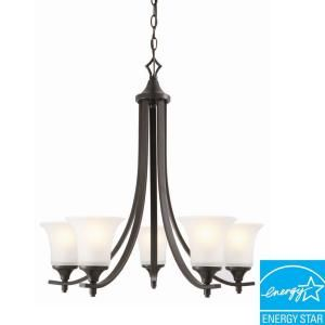 Design House Juneau 5 Light Oil Rubbed Bronze Chandelier 515791