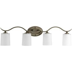 Progress Lighting Inspire Collection Antique Bronze 4 Light Vanity Fixture P2021 20