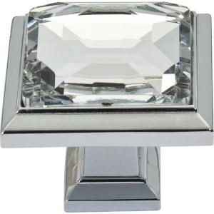 DEWALT Legacy Crystal Collection 1 1/4 in. Polished Chrome Square Cabinet Knob 340 CH