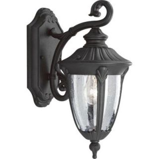 Progress Lighting Meridian Collection Textured Black 1 Light Wall Lantern P5820 31