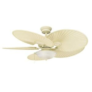 Hampton Bay Havana 48 in. Outdoor Vintage White Ceiling Fan 51327