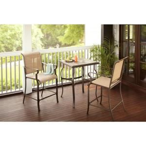 Hampton Bay Belleville 3 Piece High Patio Dining Set FCS80208HST