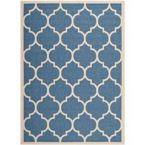 Safavieh Courtyard Blue/Beige 6.6 ft. x 9.5 ft. Area Rug CY6914 243 6