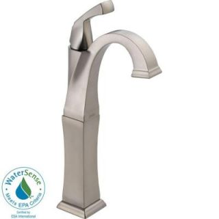 Delta Dryden Single Hole 1 Handle High Arc Bathroom Faucet in Stainless 751 SS DST