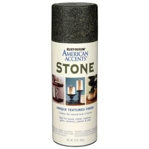 Rust Oleum American Accents 12 oz. Stone Granite Stone Textured Finish Spray Paint 238323