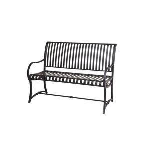 Hampton Bay Slat Patio Bench L PB136PST