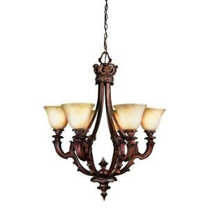 Eurofase Tiverton Collection 6 Light 2. Hanging Antique Rust Chandelier 16535 015