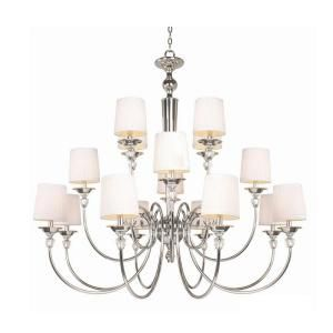 Hampton Bay Locksley Collection 16 Light Chrome Chandelier DISCONTINUED 20304 027