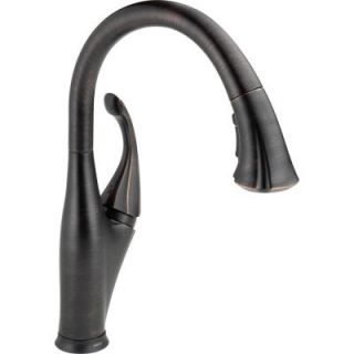 Delta Addison Single Handle Pull Down Sprayer Kitchen Faucet in Venetian Bronze with Touch2O Technology and MagnaTite Docking 9192T RB DST