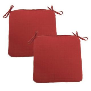 Hampton Bay Geranium Texture Outdoor Chair Cushion (2 Pack) 7348 02220600