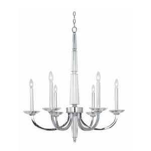 Hampton Bay Senze Collection 6 Light Chrome Chandelier 20313 029