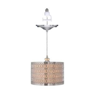 Home Decorators Collection Bella 1 Light Brushed Nickel Pendant with Conversion Kit 1880000220