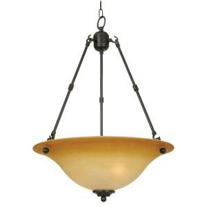 Yosemite Home Decor Bridalveil Lighting Collection 3 Light Hanging Pendant 92251R 3VB