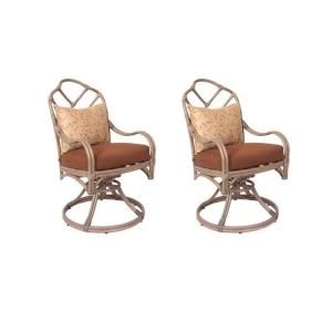 Thomasville Crystal Bay Swivel Patio Dining Chair (2 Pack) DISCONTINUED 5001400 0206102