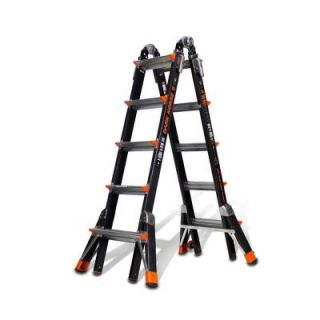 Little Giant Ladder 22 ft. Dark Horse Fiberglass Multi Position Ladder with 300 lb. Load Capacity Type IA Duty Rating DISCONTINUED 15145 001