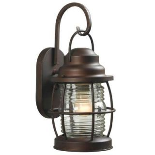 Hampton Bay Harbor 1 Light Small Outdoor Copper Wall Lantern HDP11987