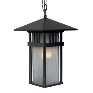 Acclaim Lighting Bali Collection Hanging Lantern 1 Light Outdoor Matte Black Light Fixture 9626BK