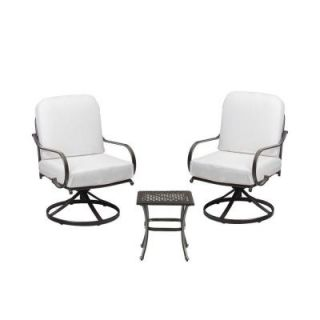 Hampton Bay Fall River 3 Piece Patio Chat Set with Bare Cushion DY11034 3L B