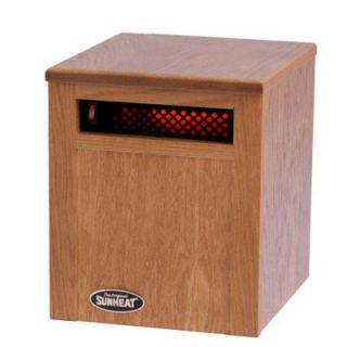 SUNHEAT 14 in. 750 Watt Infrared Electric Portable Heater with Cabinetry   Golden Oak SH 750 Golden Oak