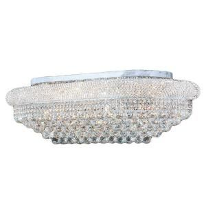 Worldwide Lighting Empire Collection 18 Light Ceiling Chrome and Crystal Light W33007C36