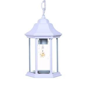 Acclaim Lighting Madison Collection 1 Light Hanging Outdoor Textured White Lantern 5185TW