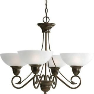 Progress Lighting Pavilion Collection 4 Light Antique Bronze Chandelier P4592 20