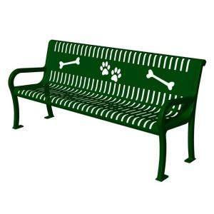 Ultra Play Lexington Series Green Paws Commercial Bench TBARK 954 W6 GRN