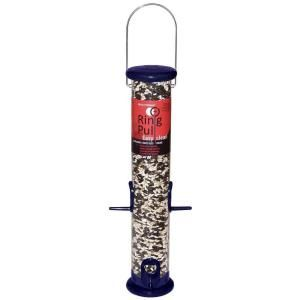 Droll Yankees 15 in. Midnight Blue Ring Pull Tube Seed Bird Feeder DRORPS15BMB