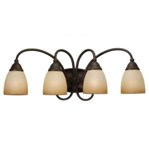 Sea Gull Lighting Montclaire 4 Light Olde Iron Vanity Fixture 44107 72