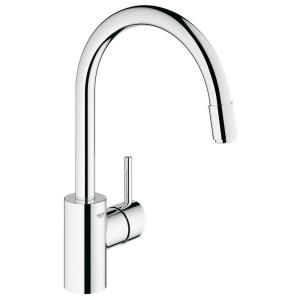 GROHE Concetto Single Handle Kitchen Faucet in StarLight Chrome 32665001