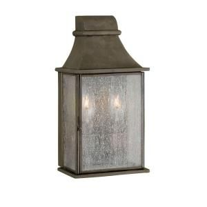 World Imports Dark Sky Revere Collection 5 in. 2 Light Outdoor Wall Mount in Flemish WI6131406