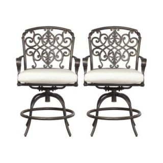 Hampton Bay Edington Swivel Patio High Dining Chair with Bare Cushion (2 Pack) 131 012 BSVL PR NF