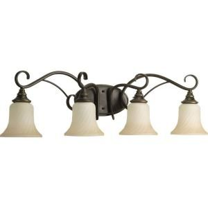 Progress Lighting Kensington Collection Forged Bronze 4 light Vanity Fixture P2786 77