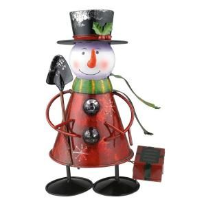 Eglo Outdoor Solar Snowman Multi Color LED Light 47742
