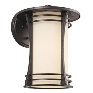 Kichler 49261AZ Outdoor Light, Transitional Wall 1 Light Fixture Architectural Bronze