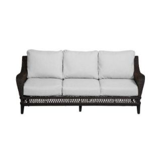 Hampton Bay Woodbury Patio Sofa with Bare Cushion DY9127 S B
