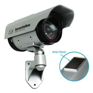 SecurityMan Solar Indoor/Outdoor Dummy Security Camera with LED SM 3803
