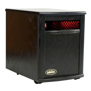 SUNHEAT 17.5 in. 1500 Watt Infrared Electric Portable Heater with Cabinetry   Black SH 1500 Black