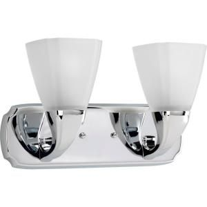 Progress Lighting Addison Collection Chrome 2 light Vanity Fixture P2847 15