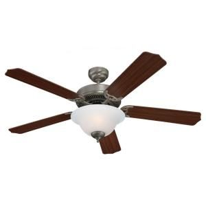 Sea Gull Lighting Quality Max Plus 52 in. Indoor Brushed Nickel Ceiling Fan 15030BLE 962