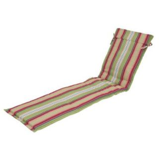 Hampton Bay Lancaster Stripe Outdoor Sling Chaise Lounge Cushion 7724 01001200
