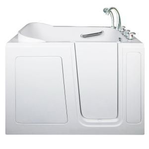Ella Short 4 ft. x 28 in. Walk In Air & Hydrotherapy Massage Bathtub in White with Right Drain/Door 284804R