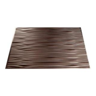 Fasade 4 ft. x 8 ft. Waves Brushed Nickel Wall Panel S74 29
