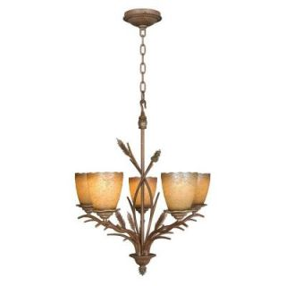 Hampton Bay Lodge 5 Light Weathered Spruce Chandelier 17185