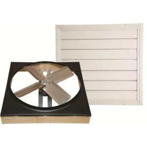 Heat Stream 24 in. Direct Drive Whole House Fan with Shutter CX242DDWT