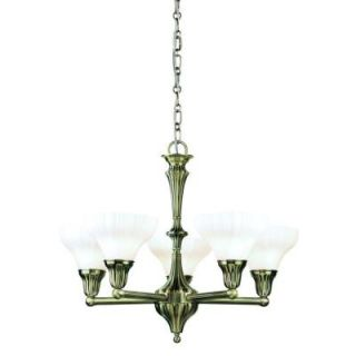 Eurofase Brunswick Collection 5 Light Hanging Antique Bronze Chandelier 13734 015